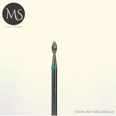 ПОЧКА алмазная насадка зеленая 2.3 мм.