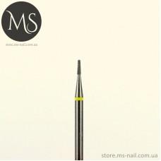 КОНУСНАЯ алмазная насадка малая желтая 1.0 мм.