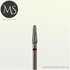ГРИБОВИДНАЯ алмазная насадка с куполообразным концом 3.1 мм. красная
