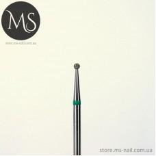 Фреза алмазная шар 1.6 мм зелений