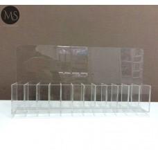 Подставка витрина для кистей и пилочек на 12 секций