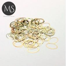 """Колечки для дизайна ногтей """"золото-бронза"""""""