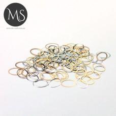 """Колечки для дизайна ногтей """"золото-платина"""""""