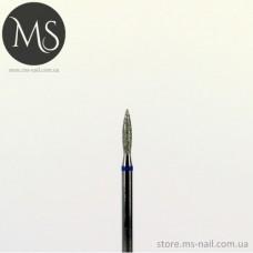 Фреза алмазная пламя 1.6 мм. синяя