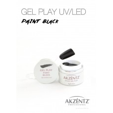 UV/LED GEL PLAY 001 PAINT BLACK