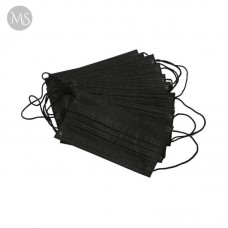 Маска одноразова тришарова чорна 10 шт.