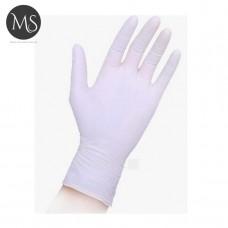 Перчатки нитриловые белые S упаковка