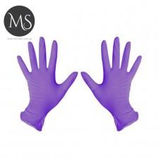 Перчатки нитриловые фиолетовые S упаковка