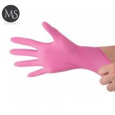 Перчатки нитриловые розовые M упаковка